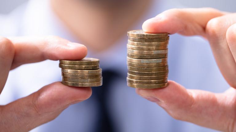 Осигурителен доход и средна месечна заплата за столицата и страната